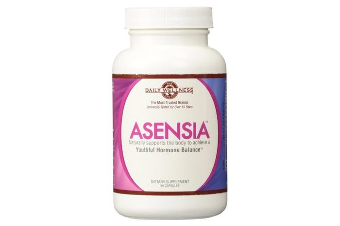 Bottle of Asensia vitamins