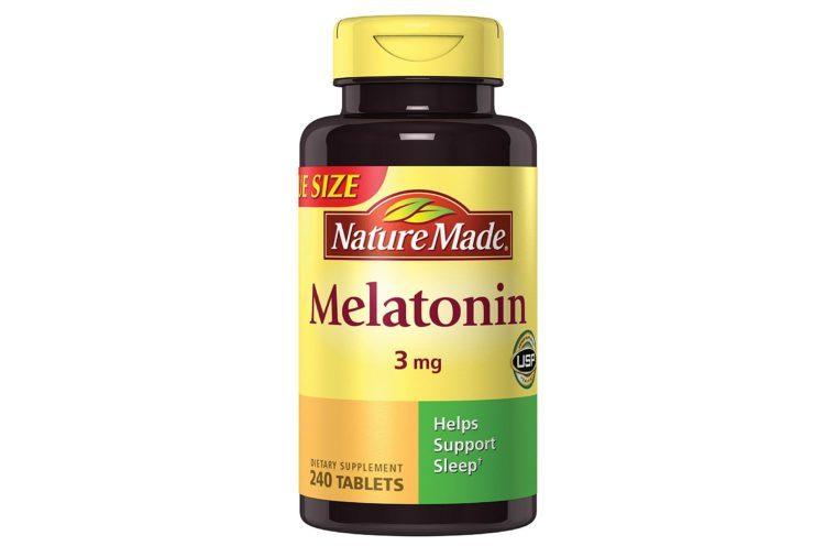 Bottle of NatureMade melatonin
