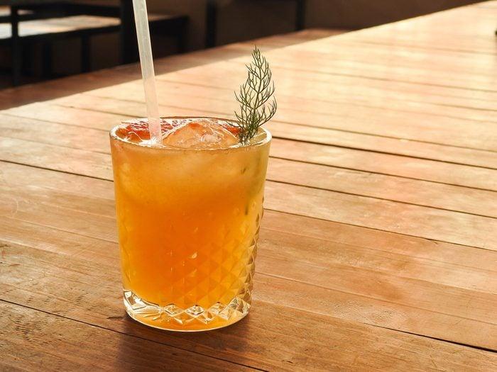 Cocktail of mezcal