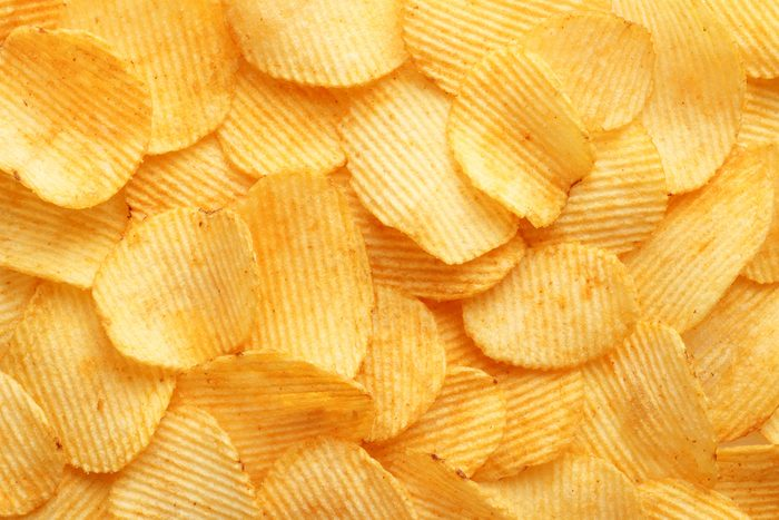 background corrugated golden chips with texture