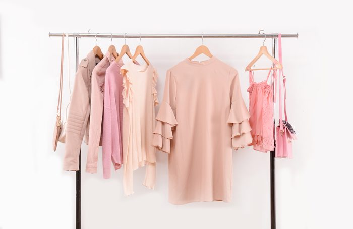 summer clothes hanging on a rack