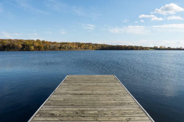 Dock on a Missouri Lake.