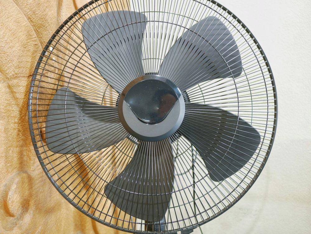 Metal electric fan