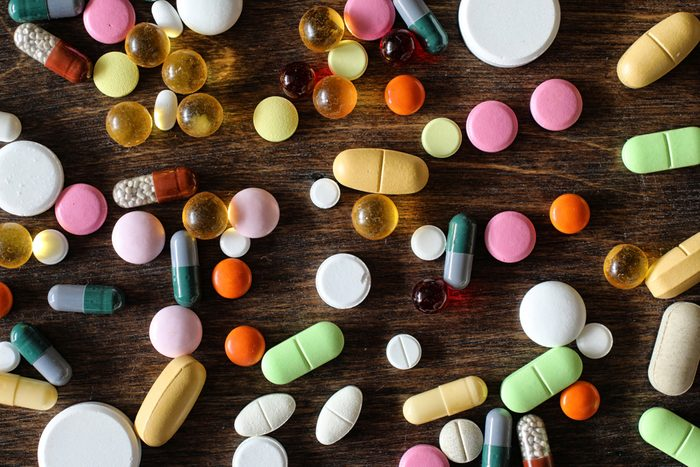 various colorful medications