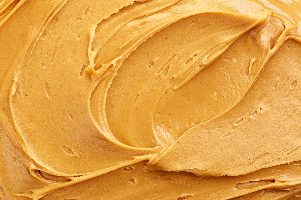 swirl of creamy peanut butter