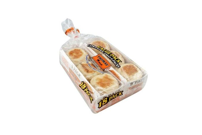 two packages of English muffins