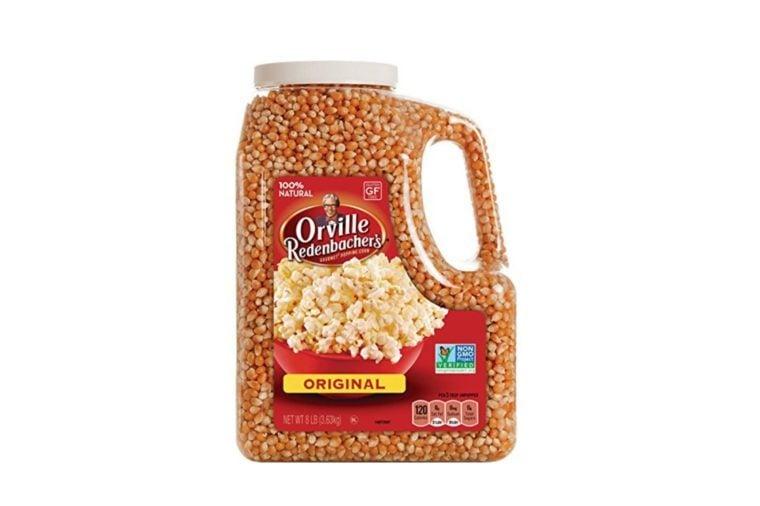 large jug of popcorn kernels