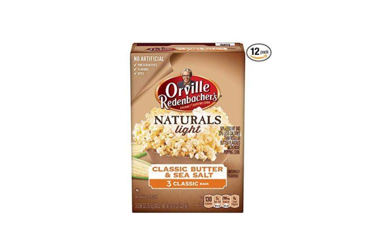 box of microwave popcorn