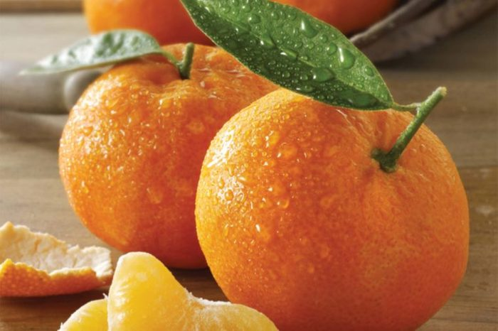 whole and peeled tangerines