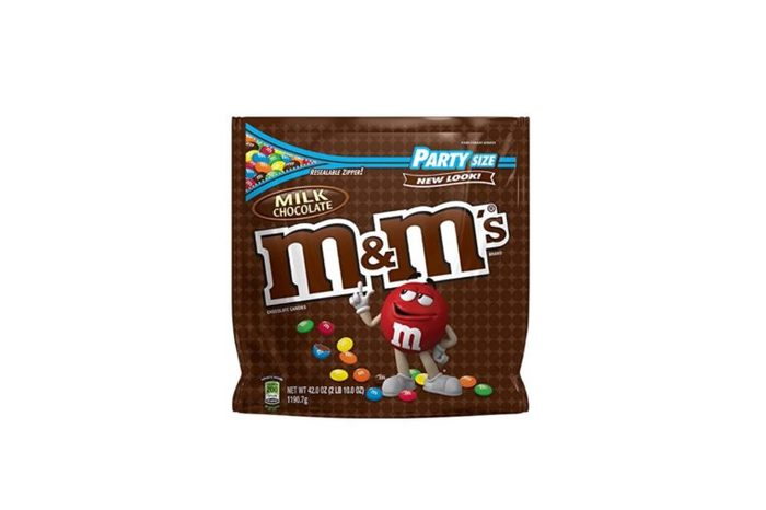bag of plain M&Ms