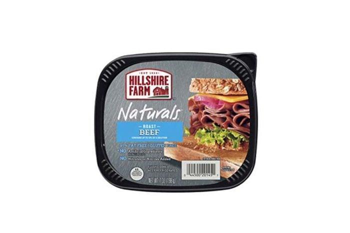 package of Hillshire Farm sliced roast beef