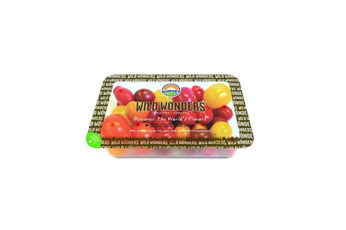 packaged of red and yellow cherry tomatoes