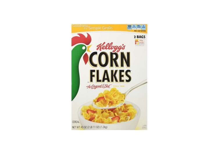 box of Kellogg's corn flakes