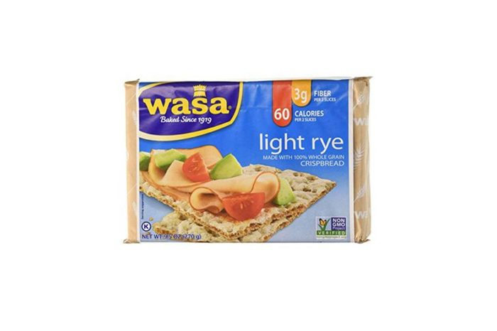 package of Wasa light rye crackers