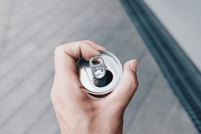 Ring pull aluminum of can