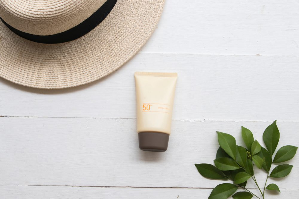 sunhat and sunscreen