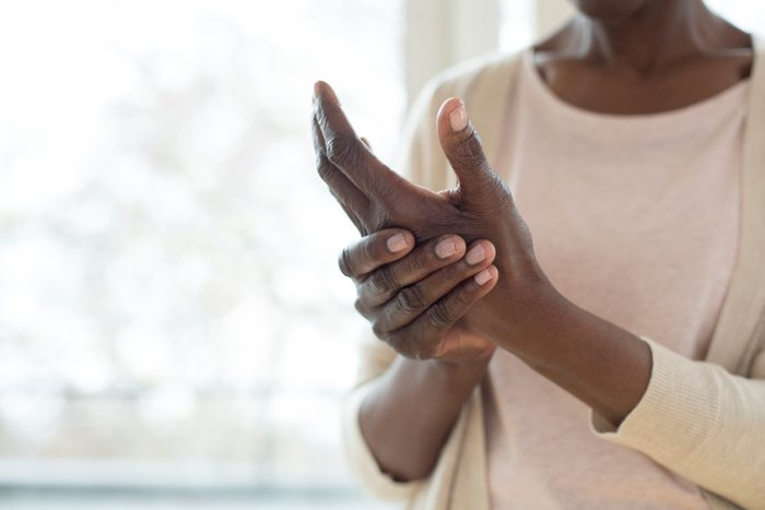 woman with pain in hands
