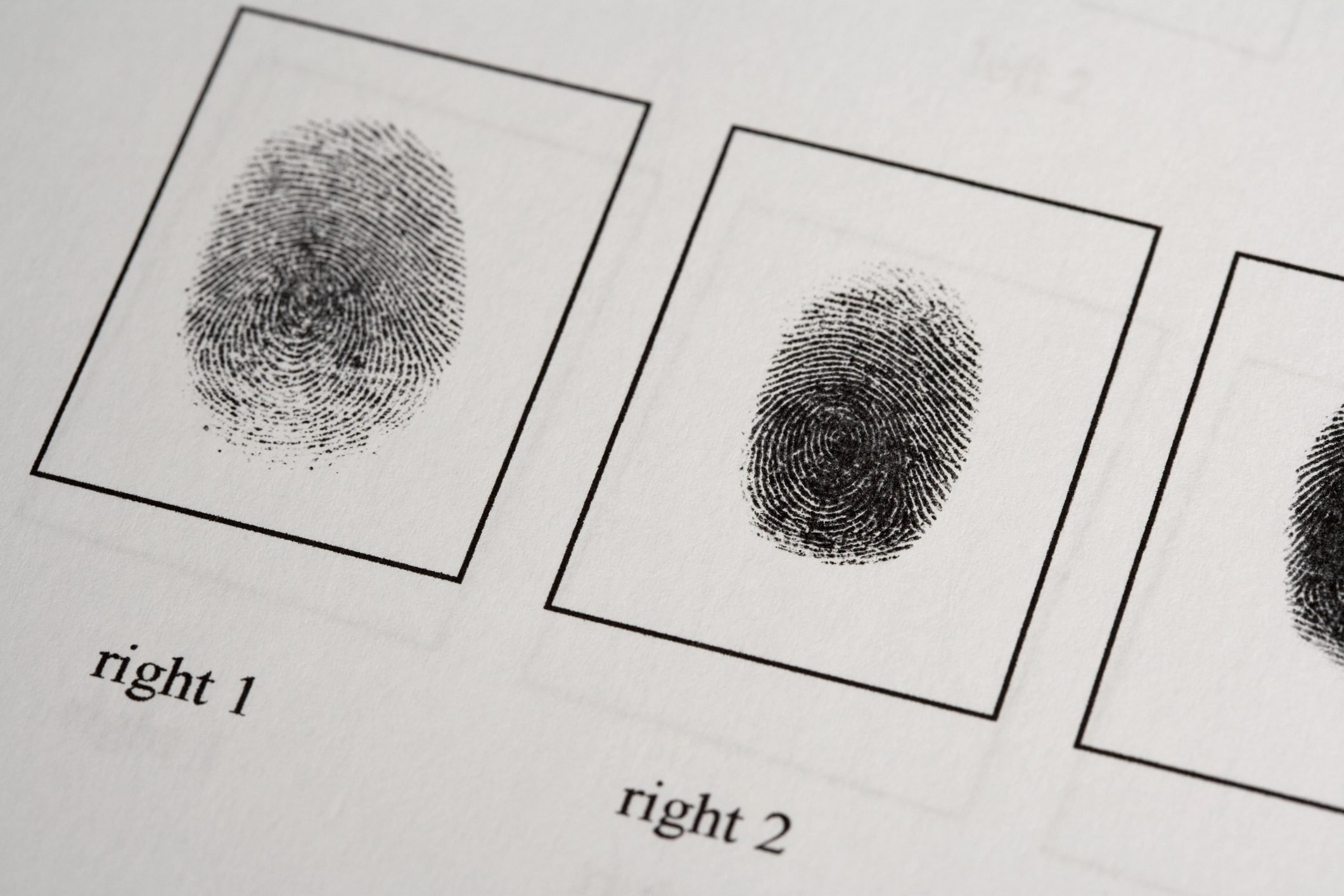 fingerprints on paper document