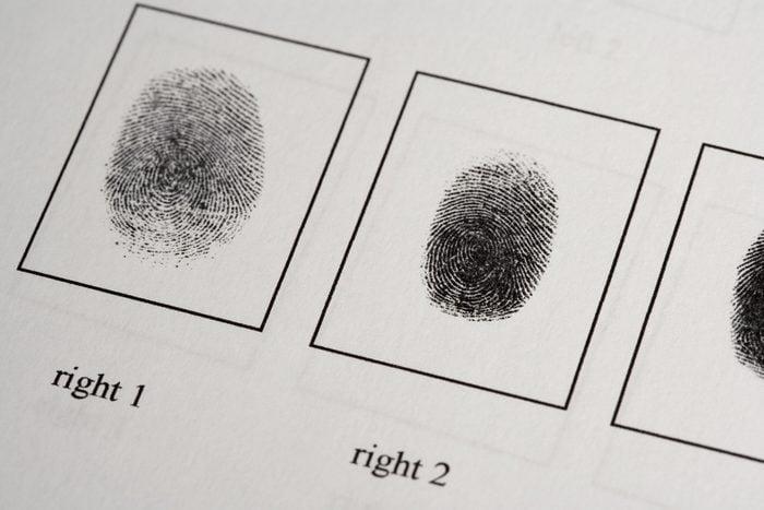 fingerprints on paper document