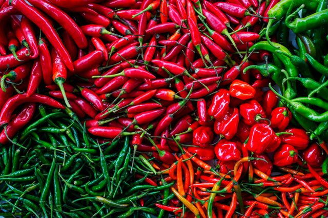 assorted chili peppers from above
