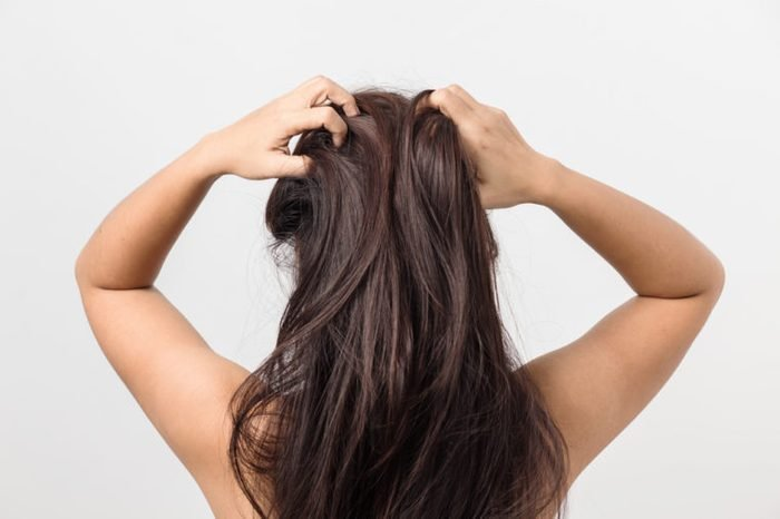 Women itching scalp ,itchy his hair