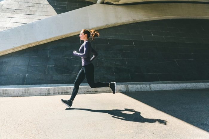 Woman jogging or running