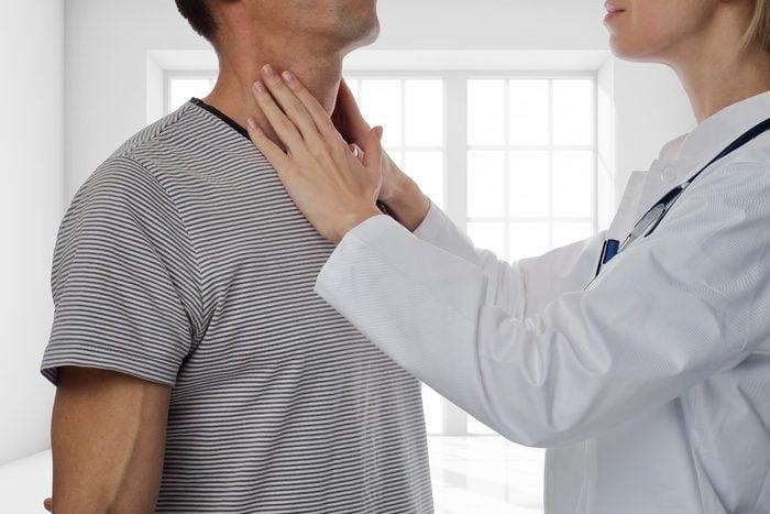 lymph nodes doctor check neck
