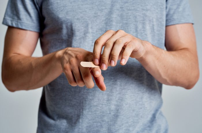 A man experiences pain in his fingers.