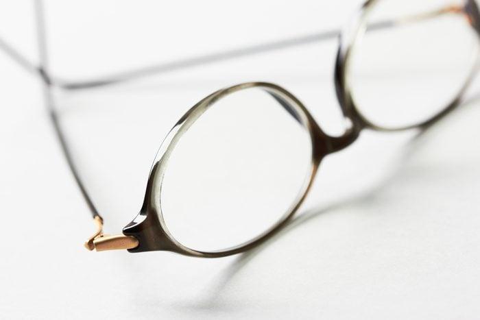eye glasses on white background