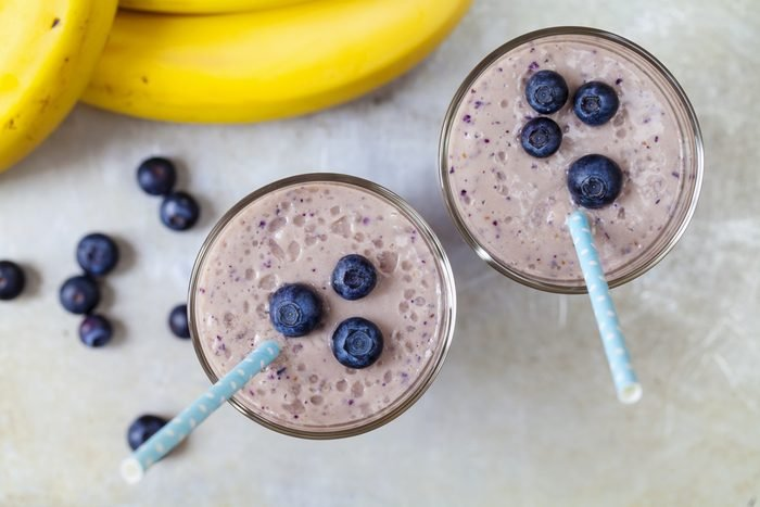 Blueberry and banana smoothie