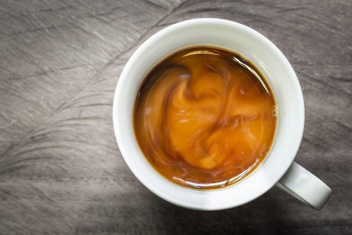 cup of coffee overhead