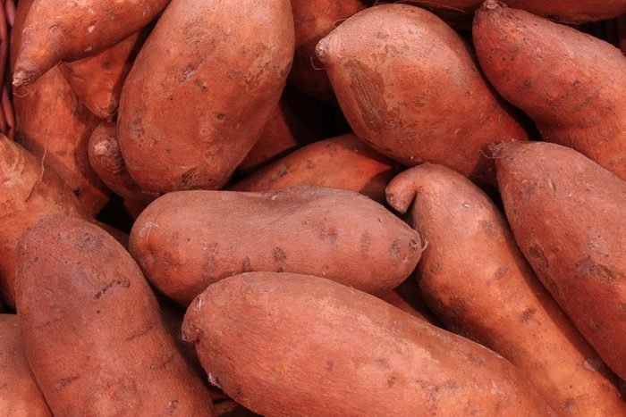 pile of sweet potatoes