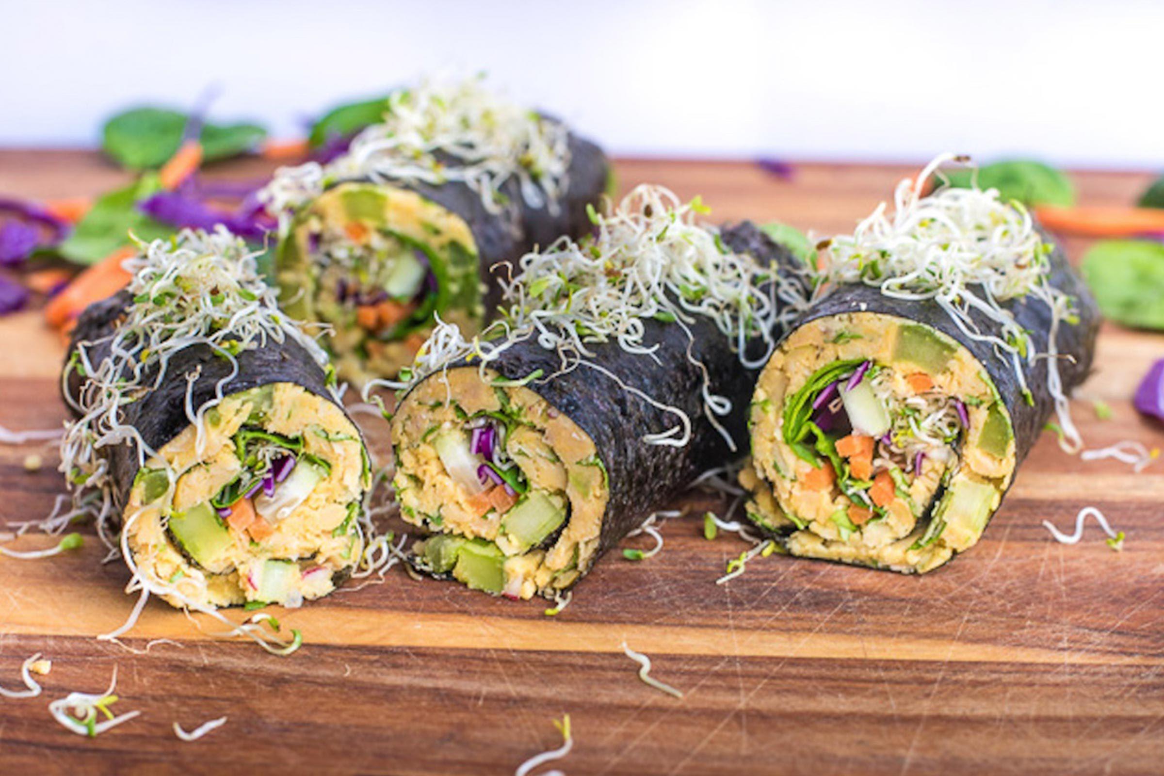 chickpea and tuna wraps
