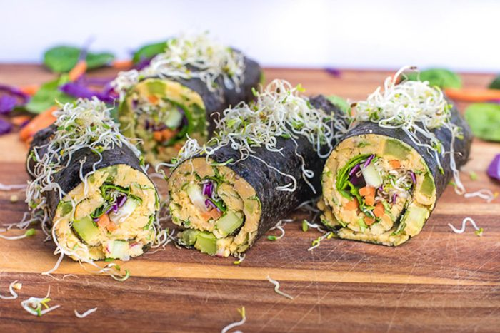 chickpea and tuna wraps