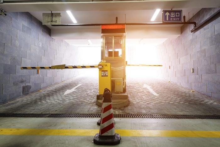 parking garage exit gate