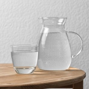 water glass pitcher table