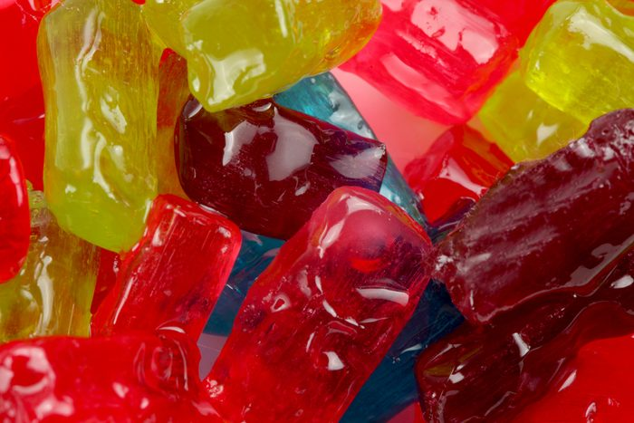 macro of colorful hard candy