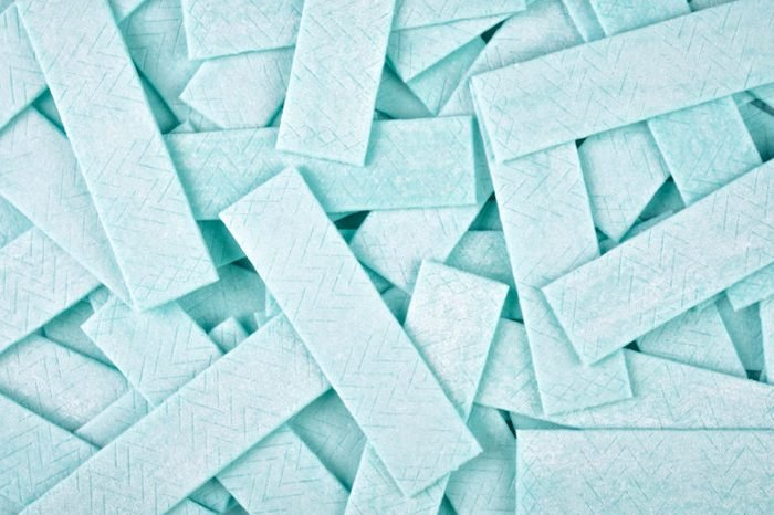 Close up abstract background from chewing gum plates