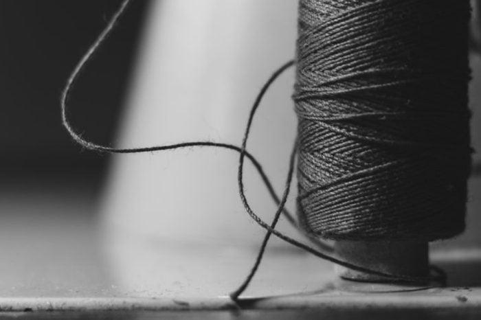 spool of black string