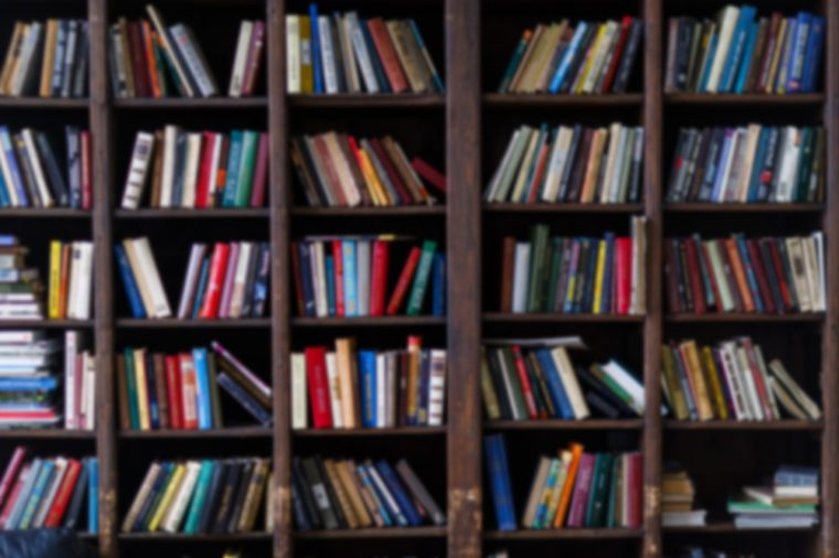 bookshelves packed with books