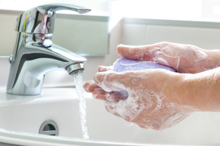 bar soap and bacteria and health