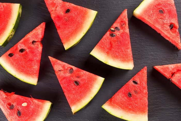 Sliced watermelon background