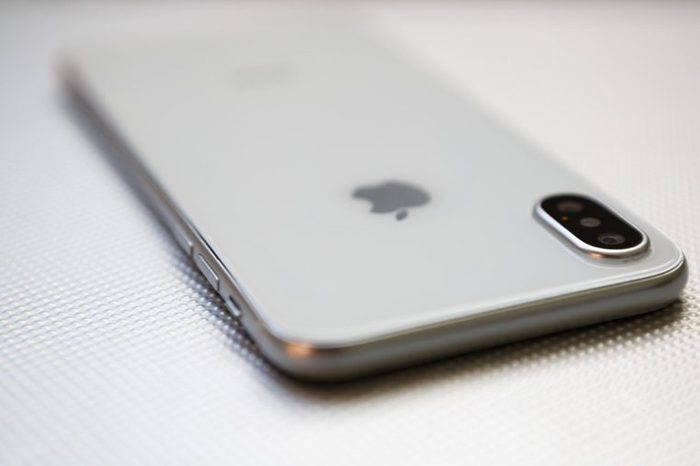 Apple iPhone lying face-down