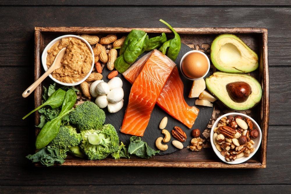 Ingrédients alimentaires du régime céto