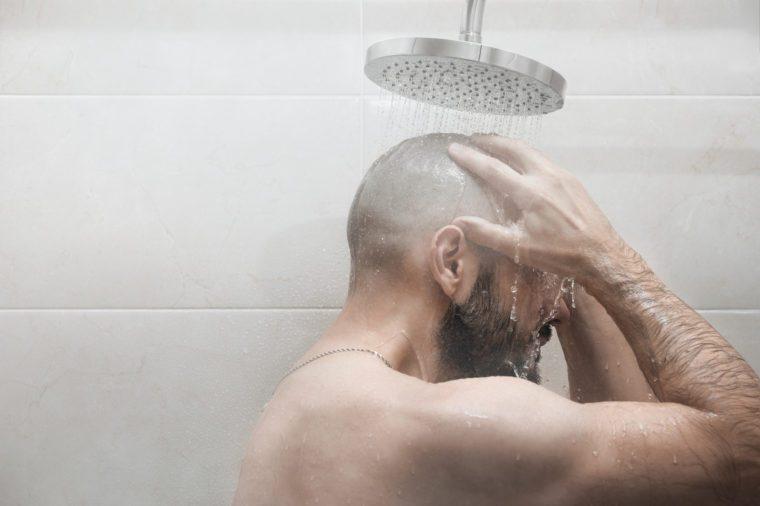 sinus infection hot shower