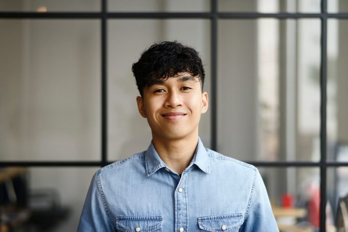 portrait of young man in the office