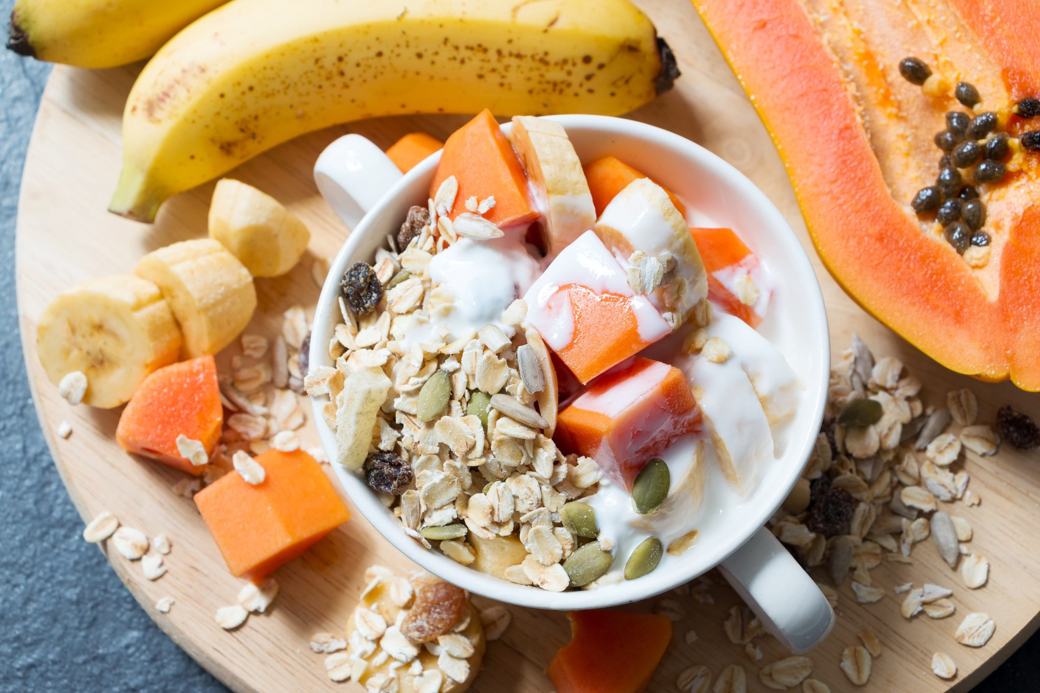 Swedish muesli breakfast bowl