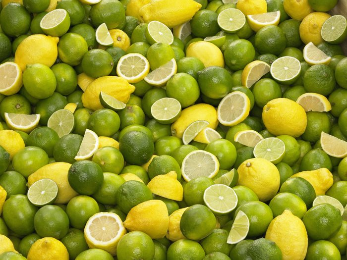 lemons and limes full frame