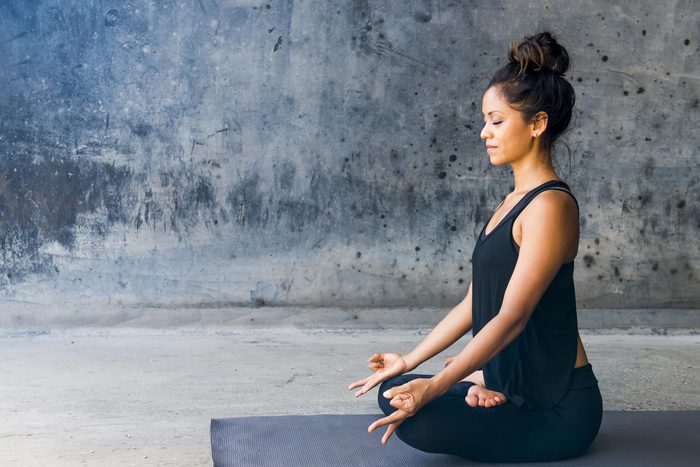 woman in meditative pose