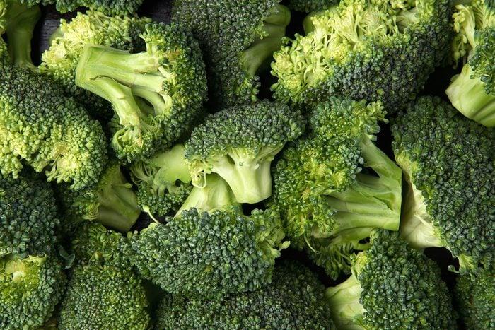 green fresh broccoli close up